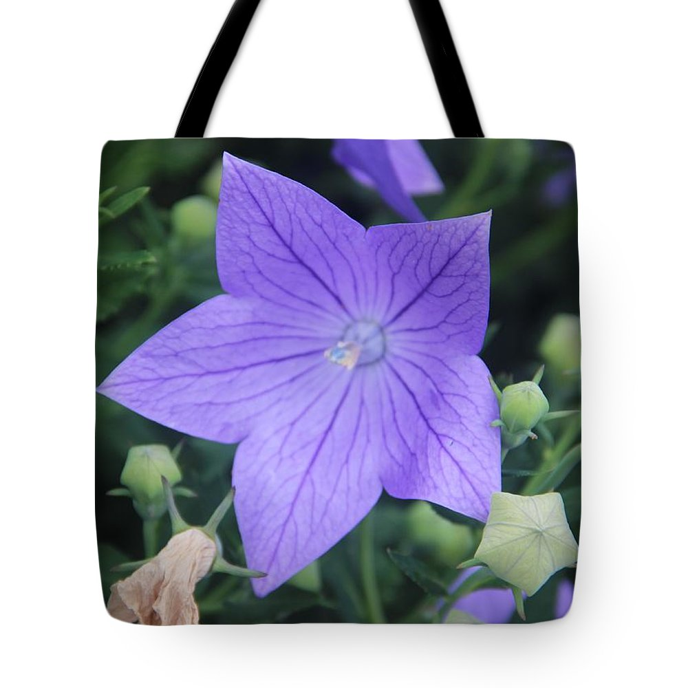 Flower Tote Bag featuring the photograph Lavender Flower by Christopher Jay