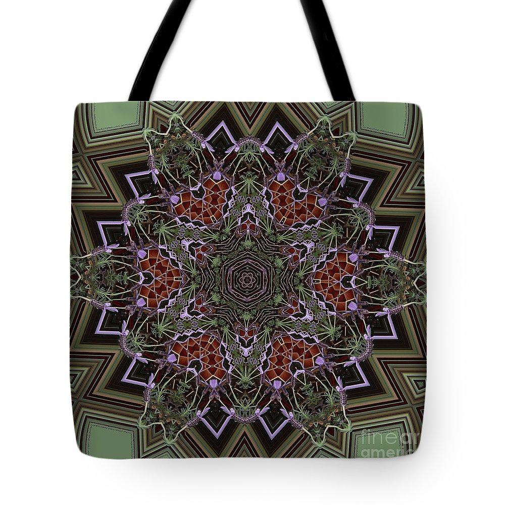 Buddhism Tote Bag featuring the digital art Lavender Mandala by Julia Underwood