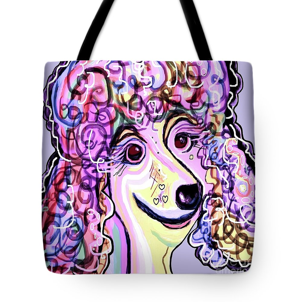 Poodle Tote Bag featuring the painting Lavender Poodle by Eloise Schneider Mote
