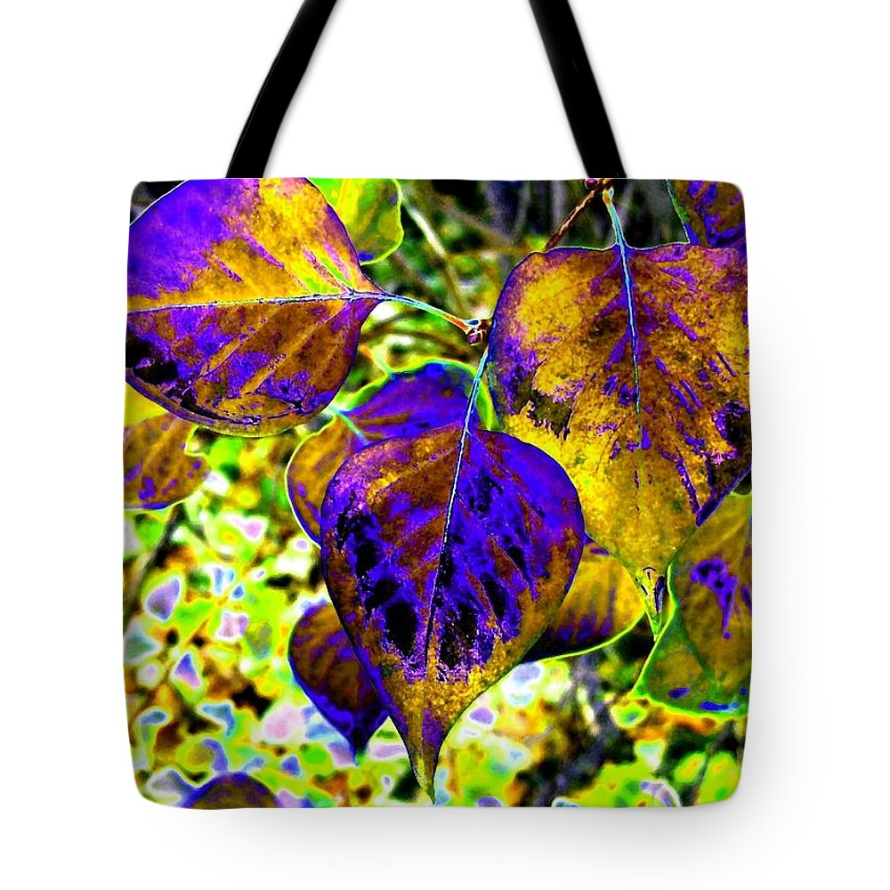 Lavish Leaves Tote Bag featuring the digital art Lavish Leaves 3 by Will Borden
