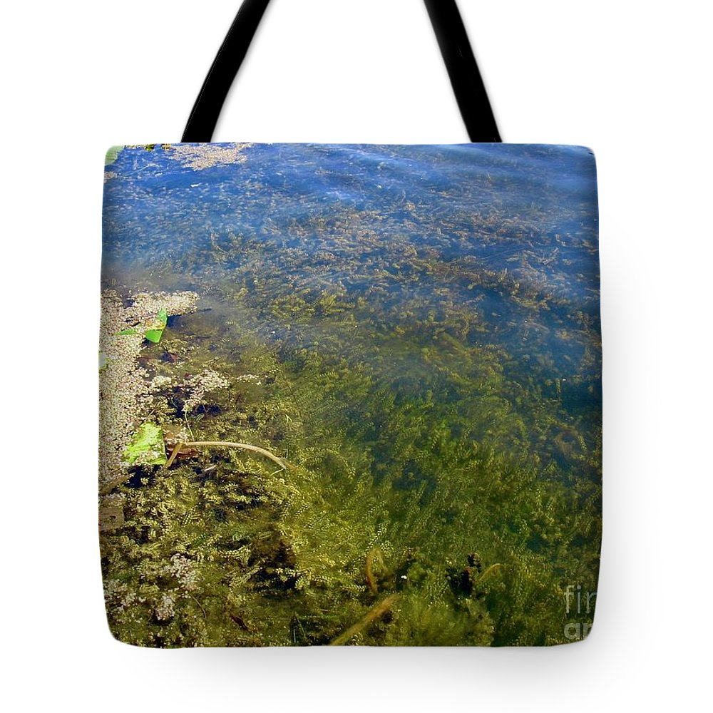 Under Water Plants Tote Bag featuring the photograph Layer Cake Lake by Trish Hale
