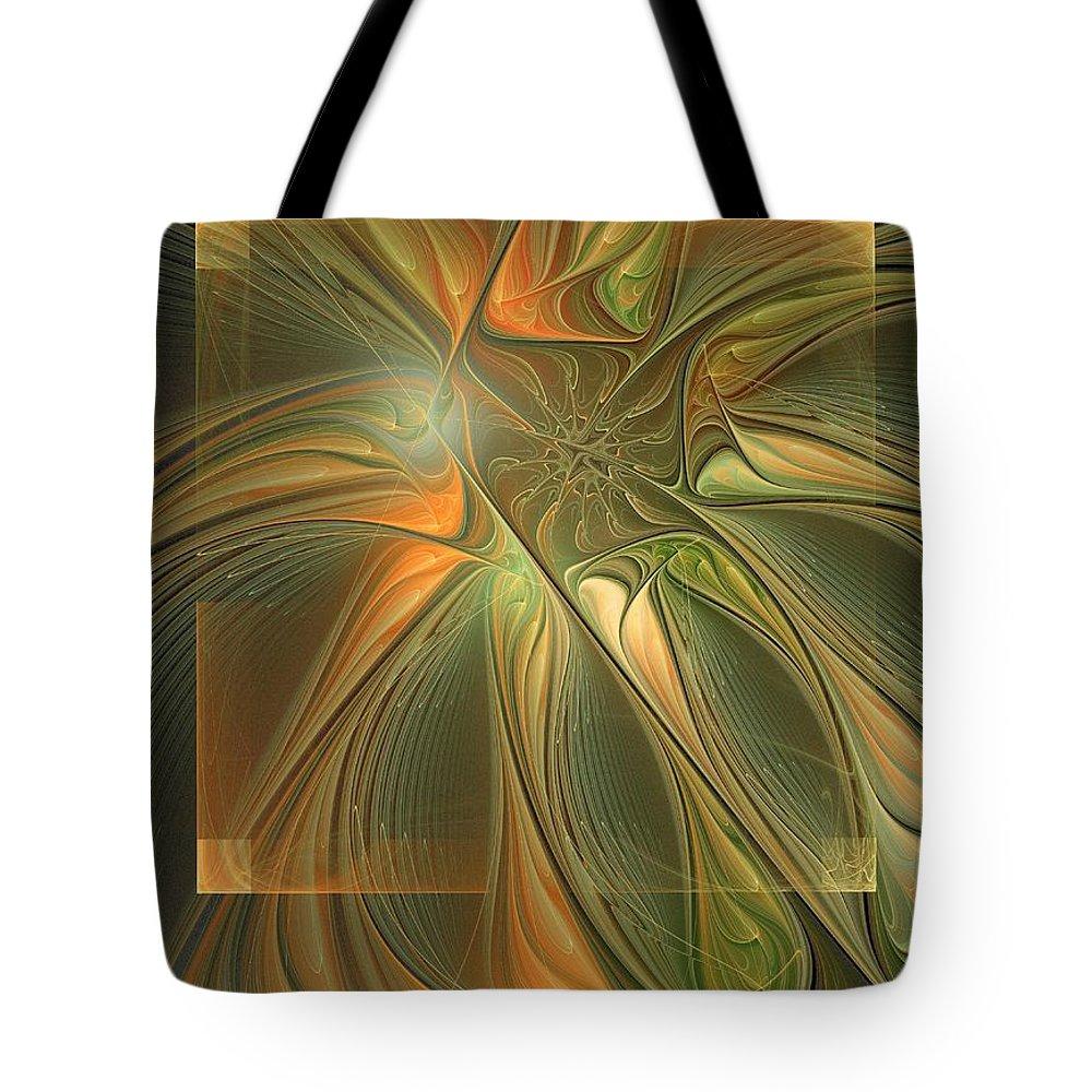 Digital Art Tote Bag featuring the digital art Layers by Amanda Moore