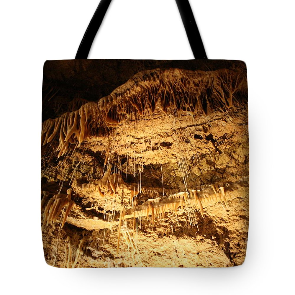 Natural Tote Bag featuring the photograph Layers Of Time - Cave by Lynn Michelle