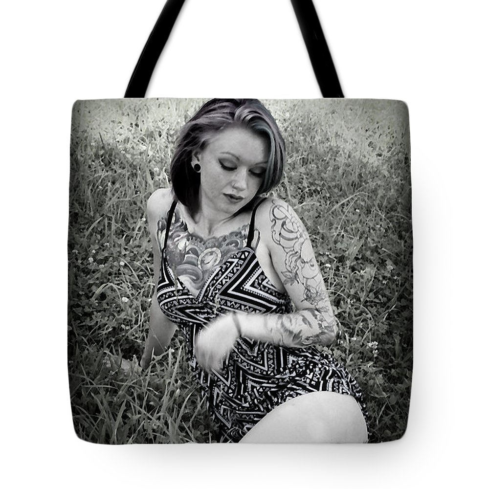 Model Tote Bag featuring the photograph Laying Around by Ej Holley