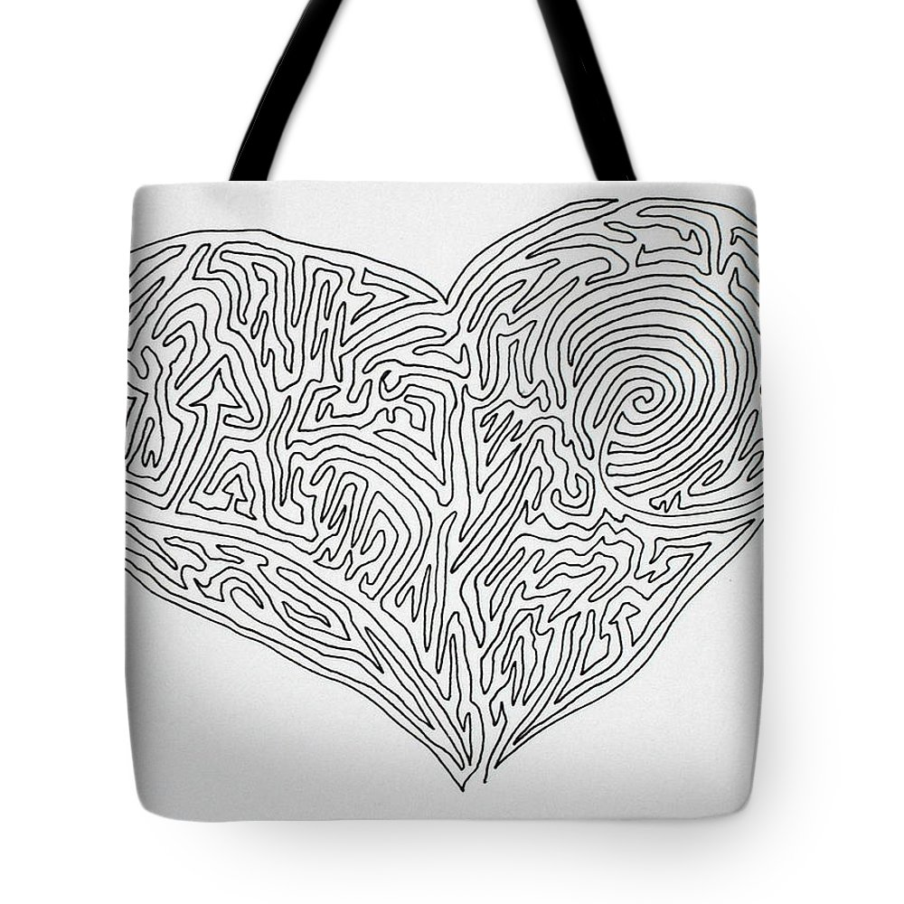 Heart Tote Bag featuring the painting Laying Your Heart On A Line by Vicki Housel