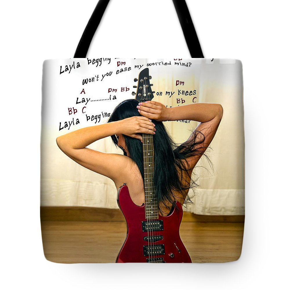 Electric Guitar Tote Bag featuring the photograph Layla by Donovan Torres