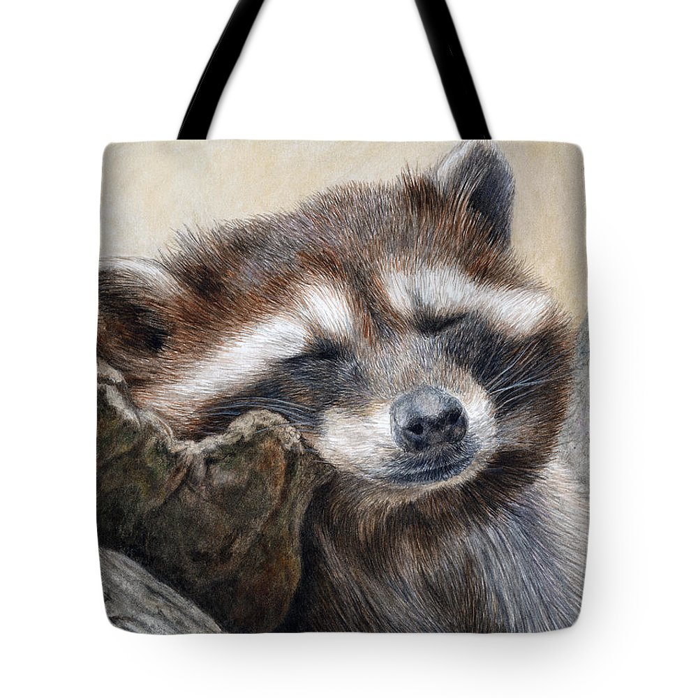 Racoon Tote Bag featuring the painting Lazy Afternoon by Pat Erickson