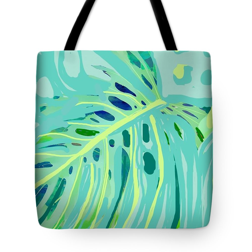 Hawaiian Art Tote Bag featuring the painting Lazy Day by Jamie Laniakea Clark