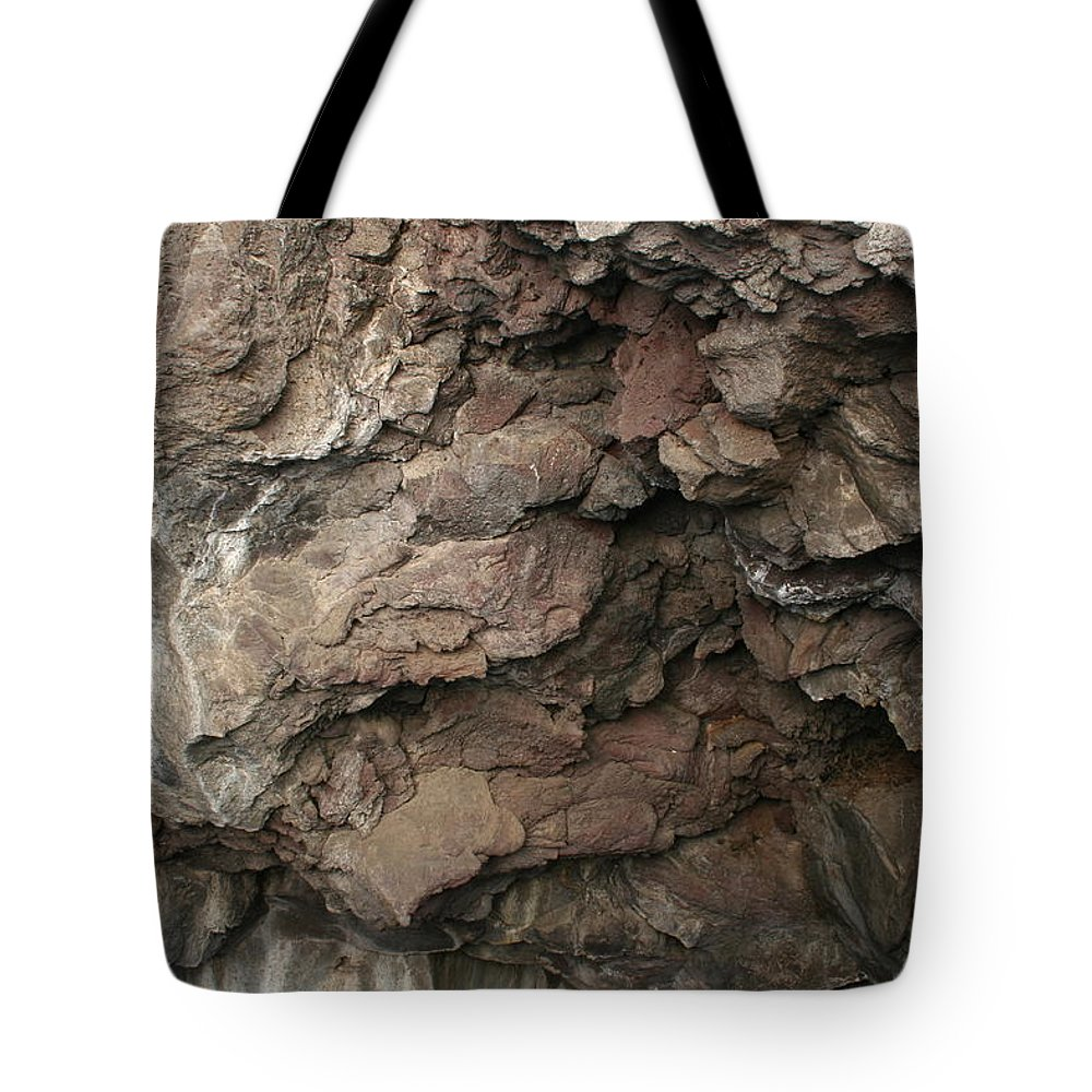 Lb Lavacicles Tote Bag featuring the photograph Lb Lavacicles by Dylan Punke