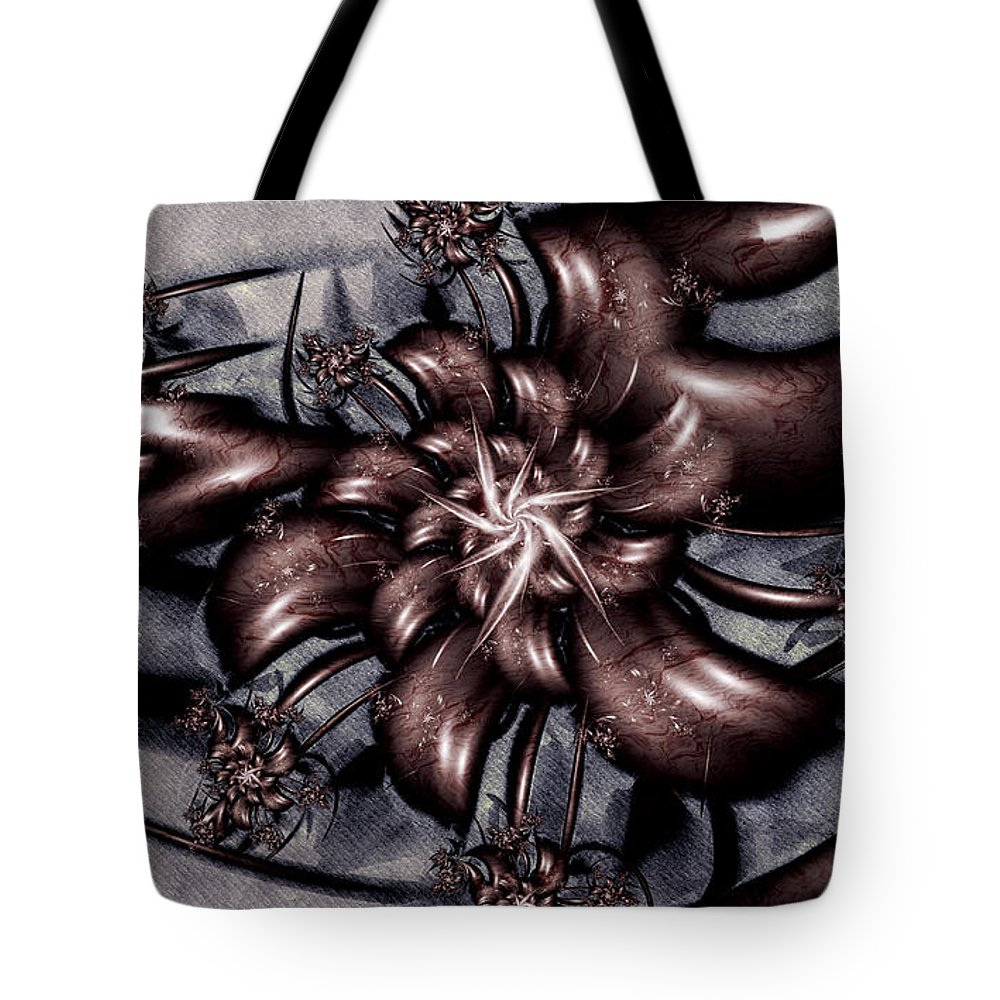 Le Chemin Tote Bag featuring the digital art Le Chemin by Kimberly Hansen
