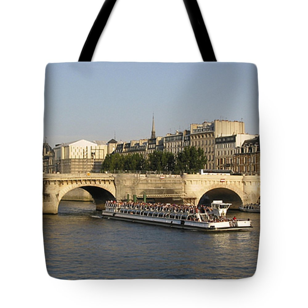 And Tote Bag featuring the photograph Le Pont Neuf. Paris. by Bernard Jaubert