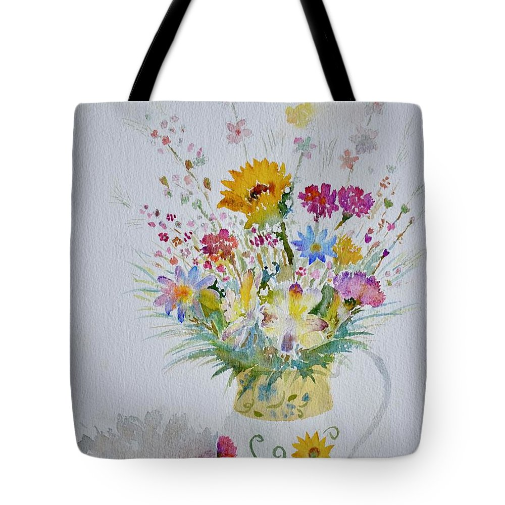 Bouquet Tote Bag featuring the painting Le Printemps Dans La Maison by Solange Rhode