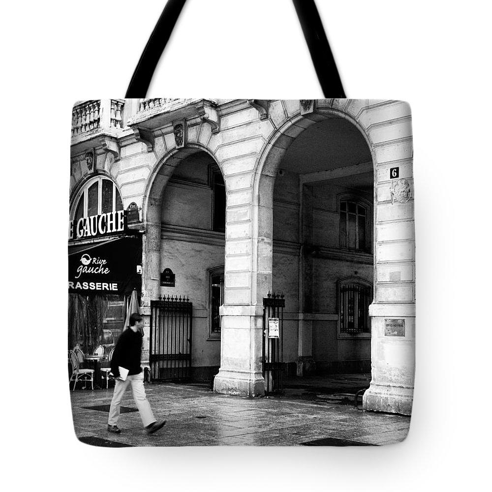 Le Rive Gauche Tote Bag featuring the photograph Le Rive Gauche by Mick Burkey