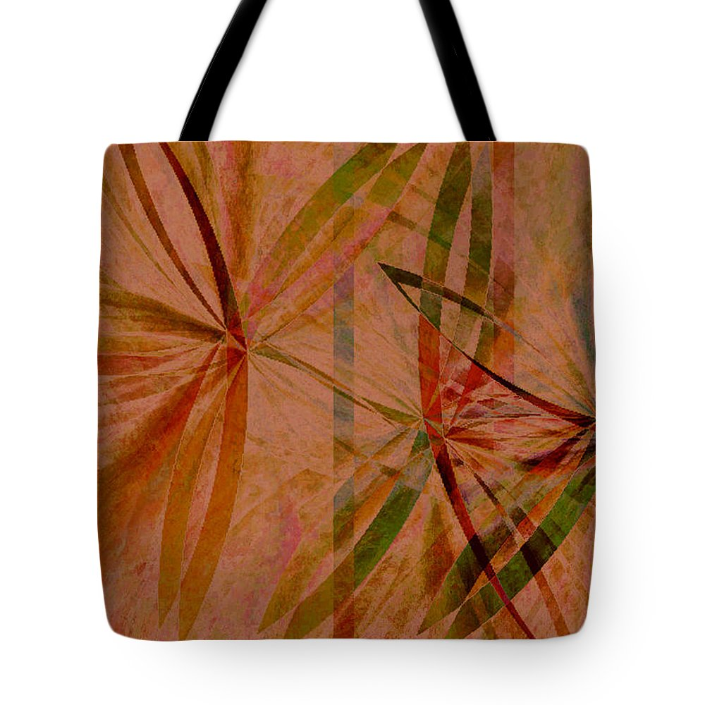 Abstract Tote Bag featuring the digital art Leaf Dance by Ruth Palmer