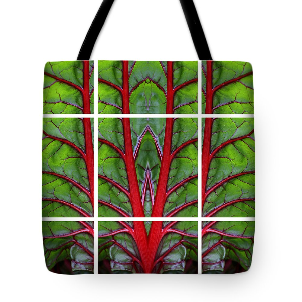 Swiss Chard Tote Bag featuring the photograph Leaf Of Life by Debi Dalio