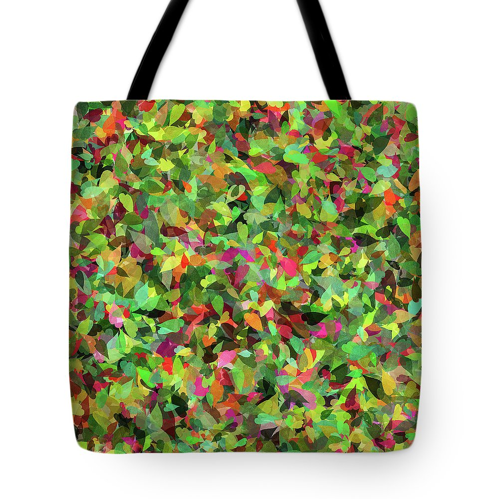 Leaf Riot Tote Bag featuring the photograph Leaf Riot - by Julie Weber
