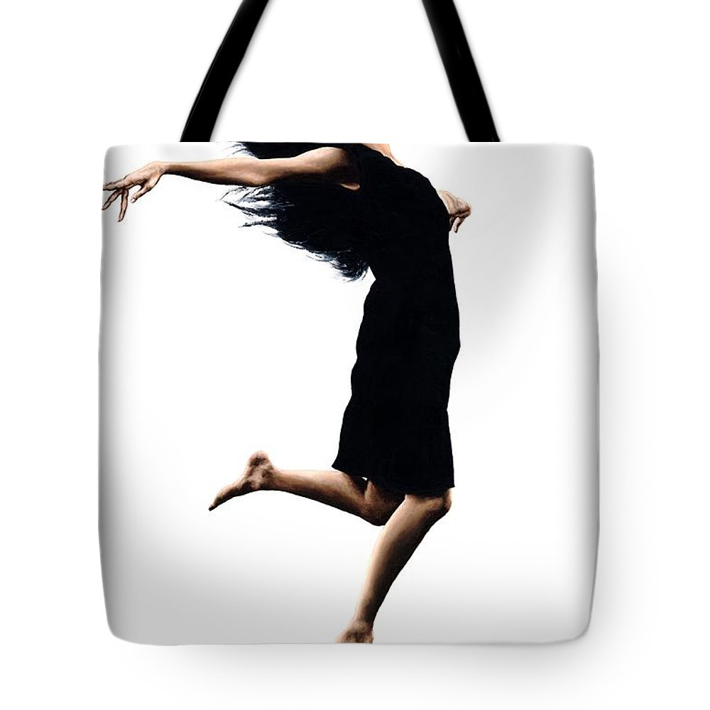 Ballet Tote Bag featuring the painting Leap Into The Unknown by Richard Young