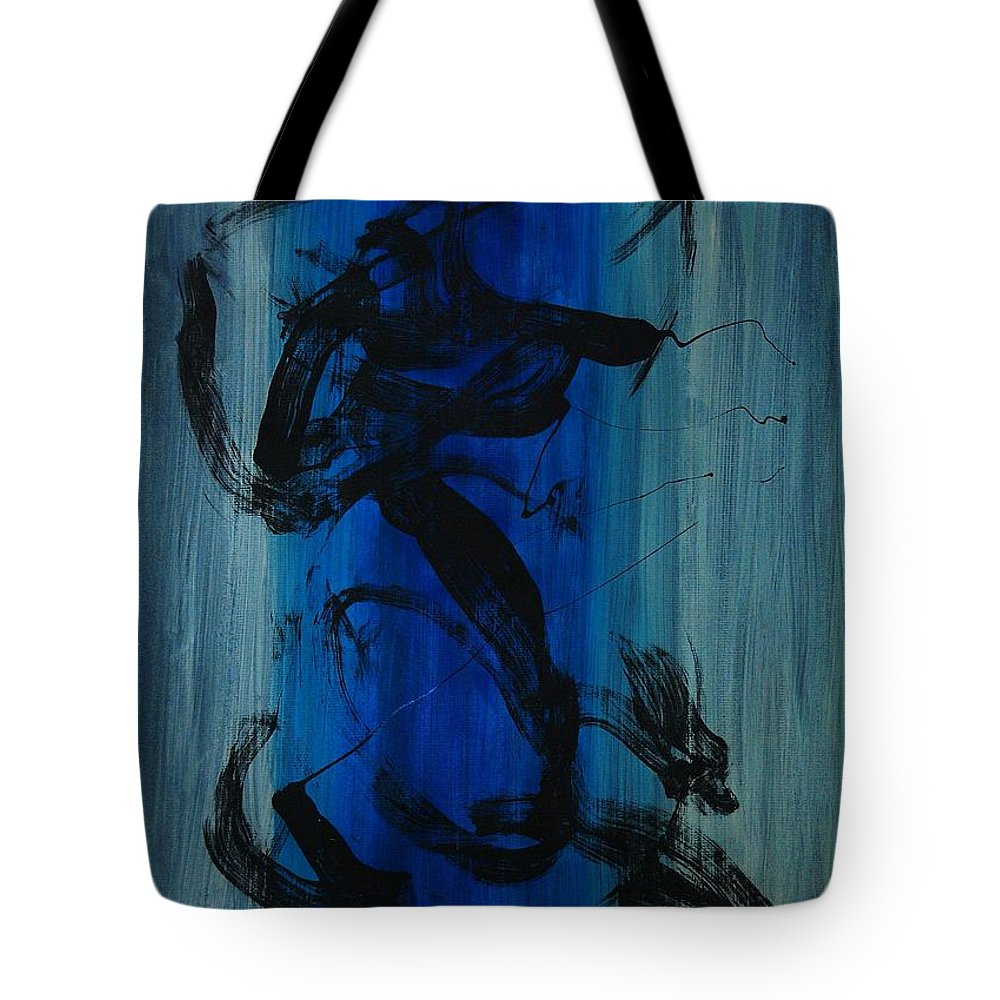 Acrylic Tote Bag featuring the painting Leap Of Love by Lauren Luna