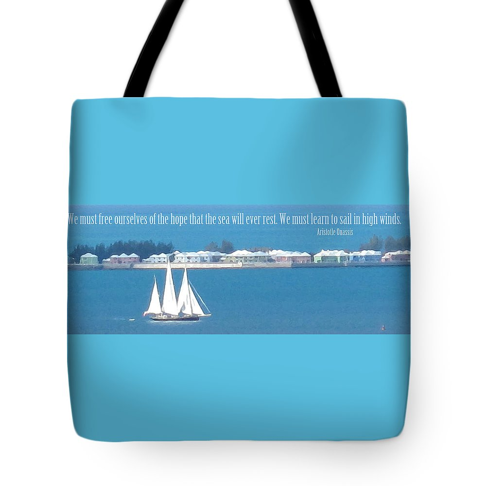 Sail. Sailboat Tote Bag featuring the photograph Learn To Sail by Ian MacDonald