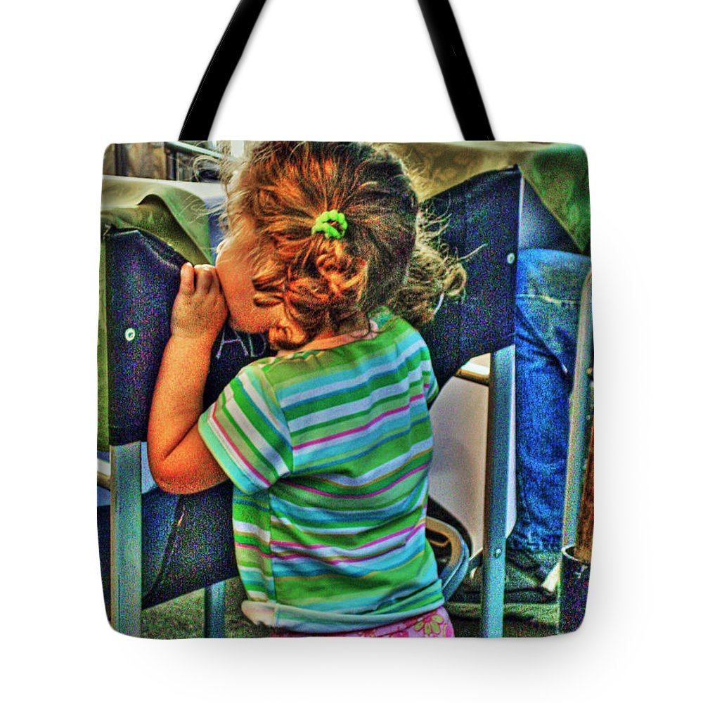 Child Tote Bag featuring the photograph Learning by Francisco Colon