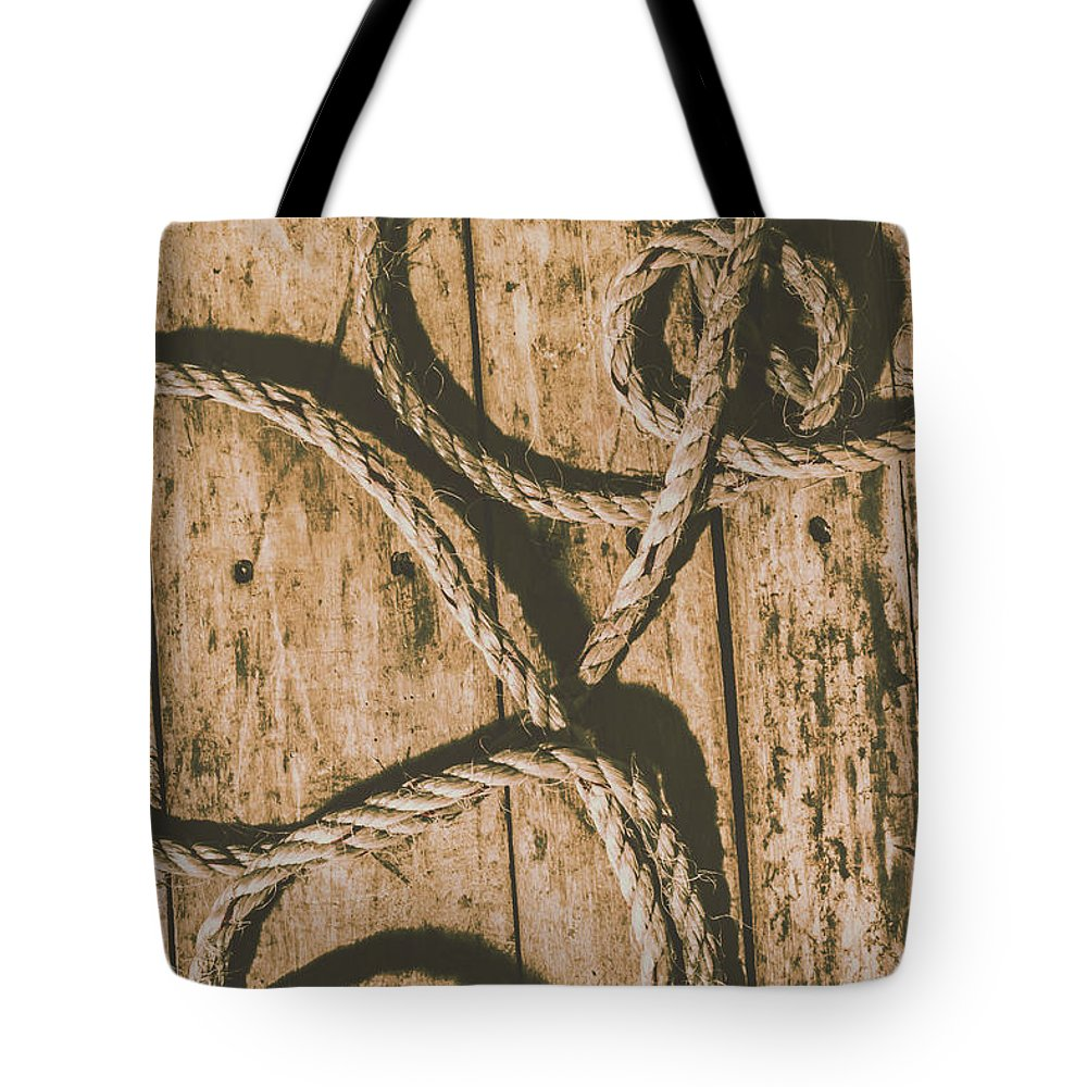 Nautical Tote Bag featuring the photograph Learning The Ropes by Jorgo Photography - Wall Art Gallery