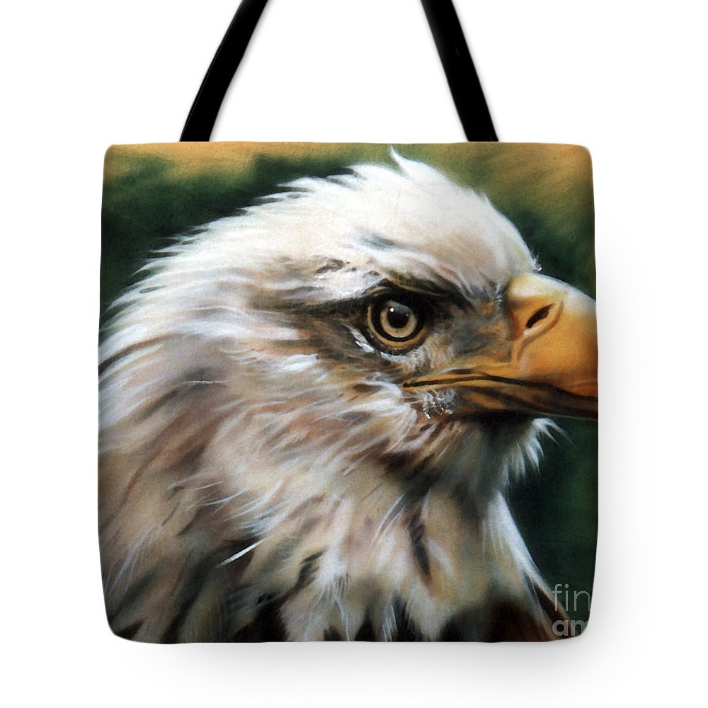 Southwest Art Tote Bag featuring the painting Leather Eagle by J W Baker