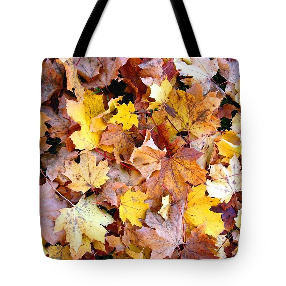 Leaves Tote Bag featuring the photograph Leaves Of Fall by Rhonda Barrett