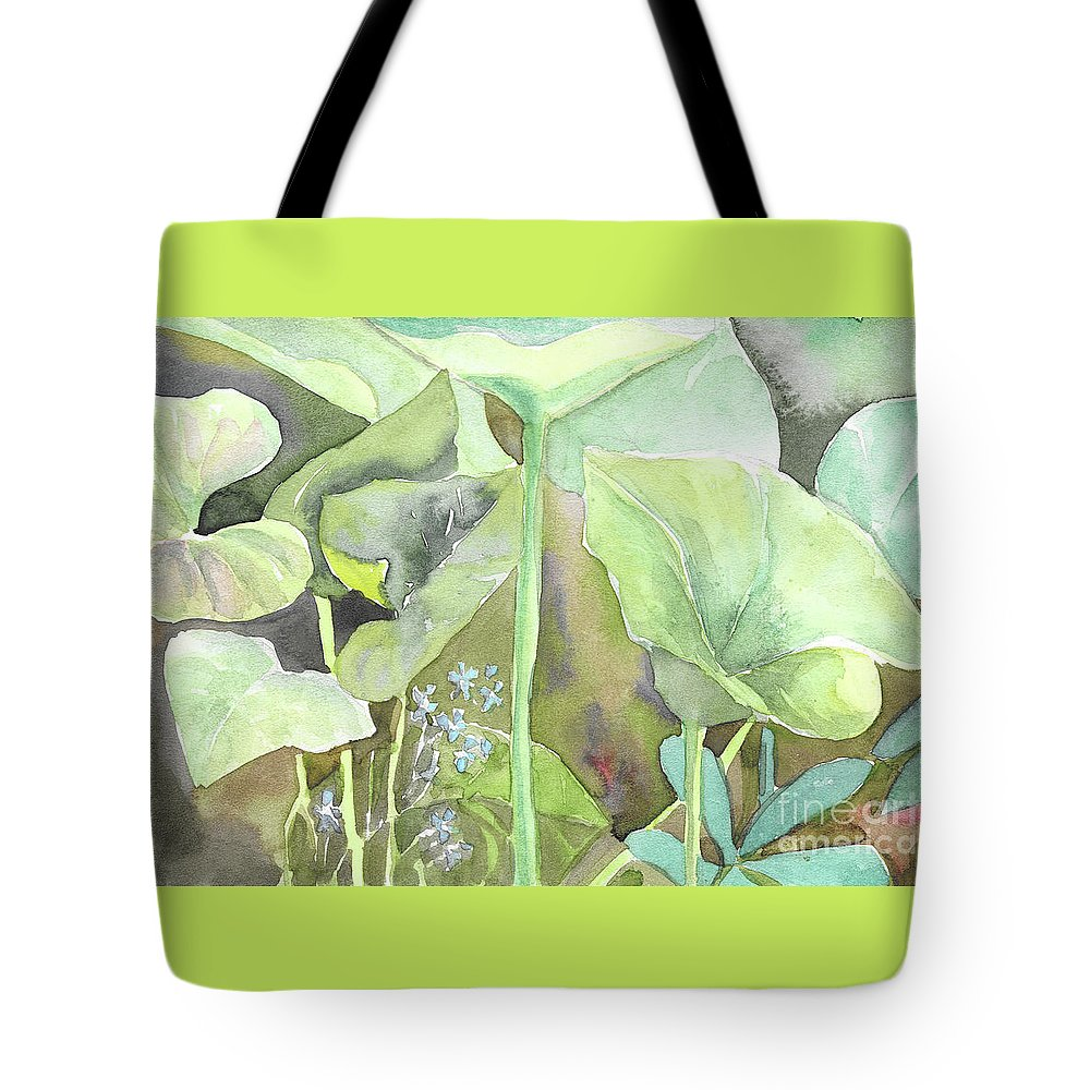 Leaves Tote Bag featuring the painting Leaves by Yana Sadykova