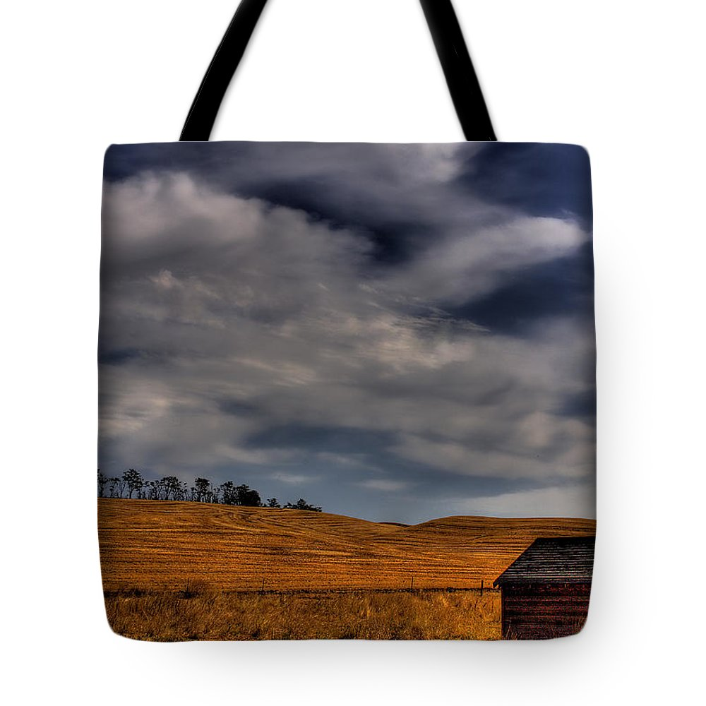 Landscape Tote Bag featuring the photograph Leaving The Shed by David Patterson