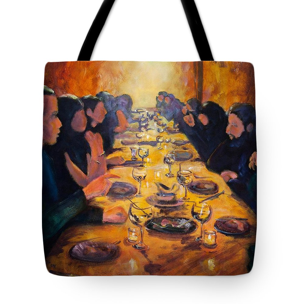 Food Tote Bag featuring the painting Leftovers by Jason Reinhardt