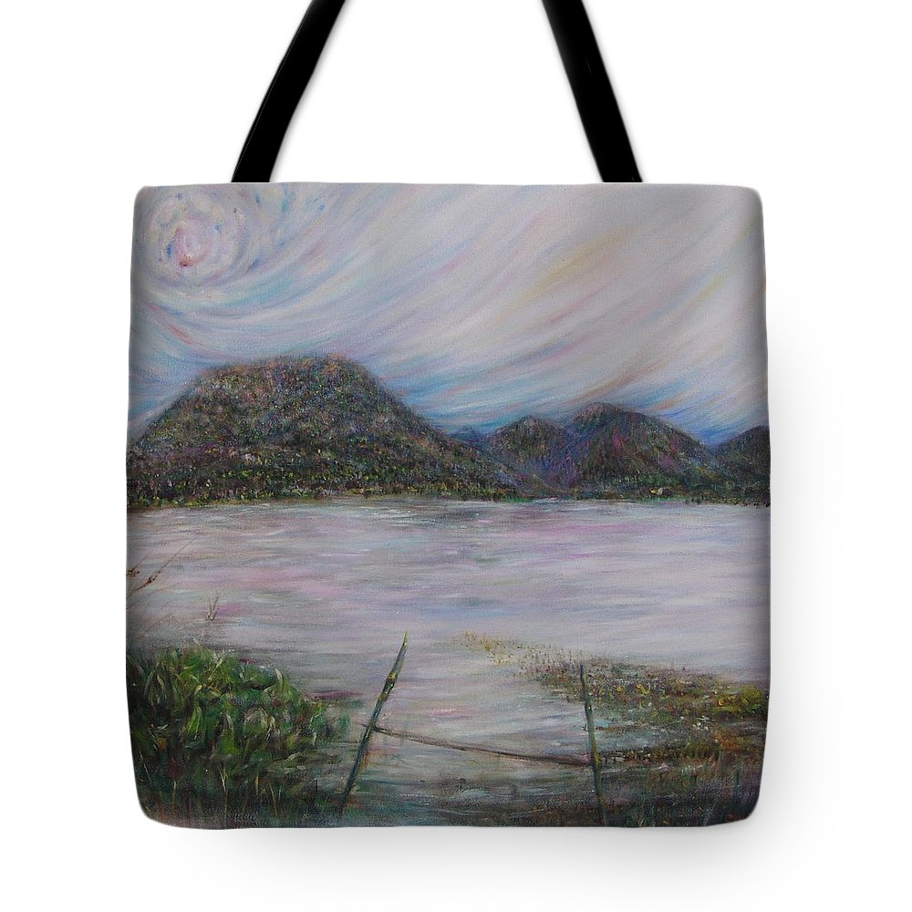 Thailand Tote Bag featuring the painting Legend Of The Mountain by Sukalya Chearanantana