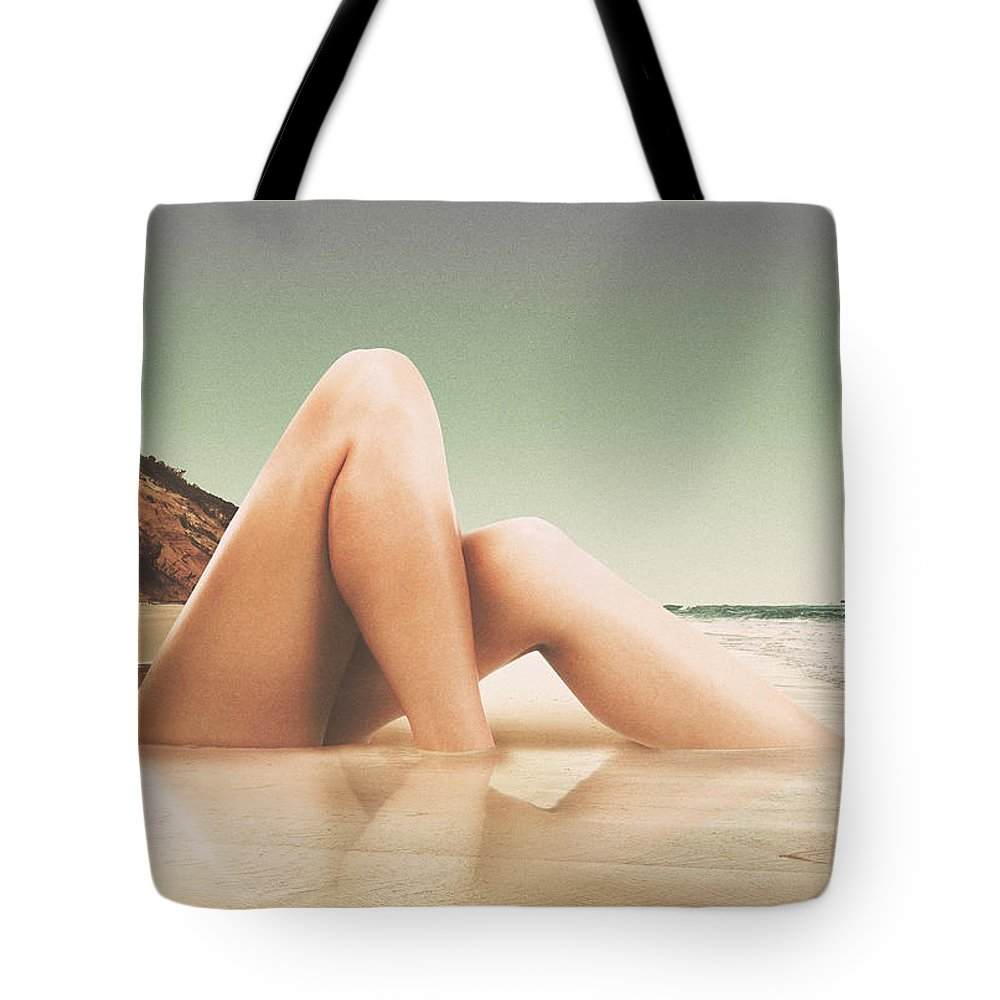 Collage Tote Bag featuring the photograph Legscape II by Fran Rodriguez