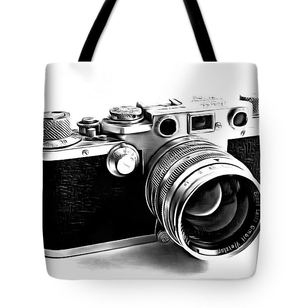Leica Iii Camera Drawing Tote Bag For Sale By Edward Fielding