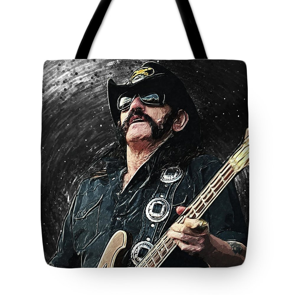 Lemmy Tote Bag featuring the digital art Lemmy by Zapista OU