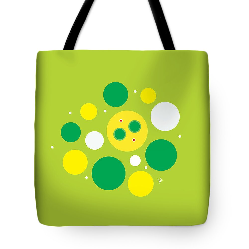 Lemon Lime Tote Bag featuring the digital art Lemon Lime Fizz by Diana De Avila