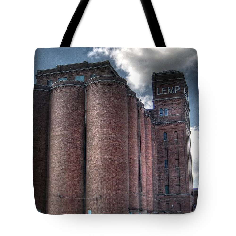 St. Louis Tote Bag featuring the photograph Lemp Brewery by Jane Linders