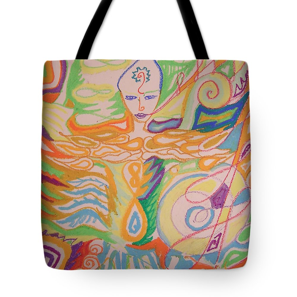 Vibrant Tote Bag featuring the pastel Lemurian Dreamer by Jelila