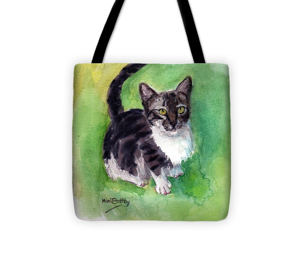 Cat Tote Bag featuring the painting Leo by Mimi Boothby