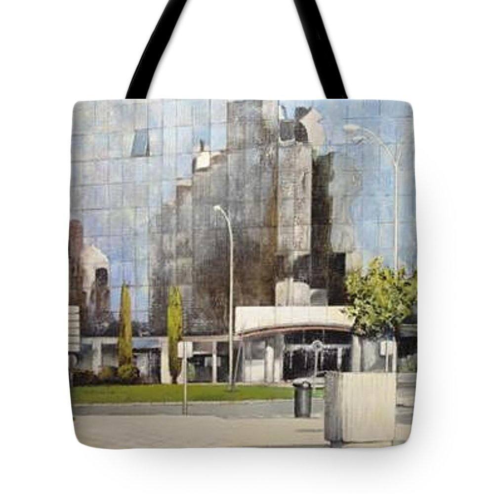 Leon Tote Bag featuring the painting Leon by Tomas Castano