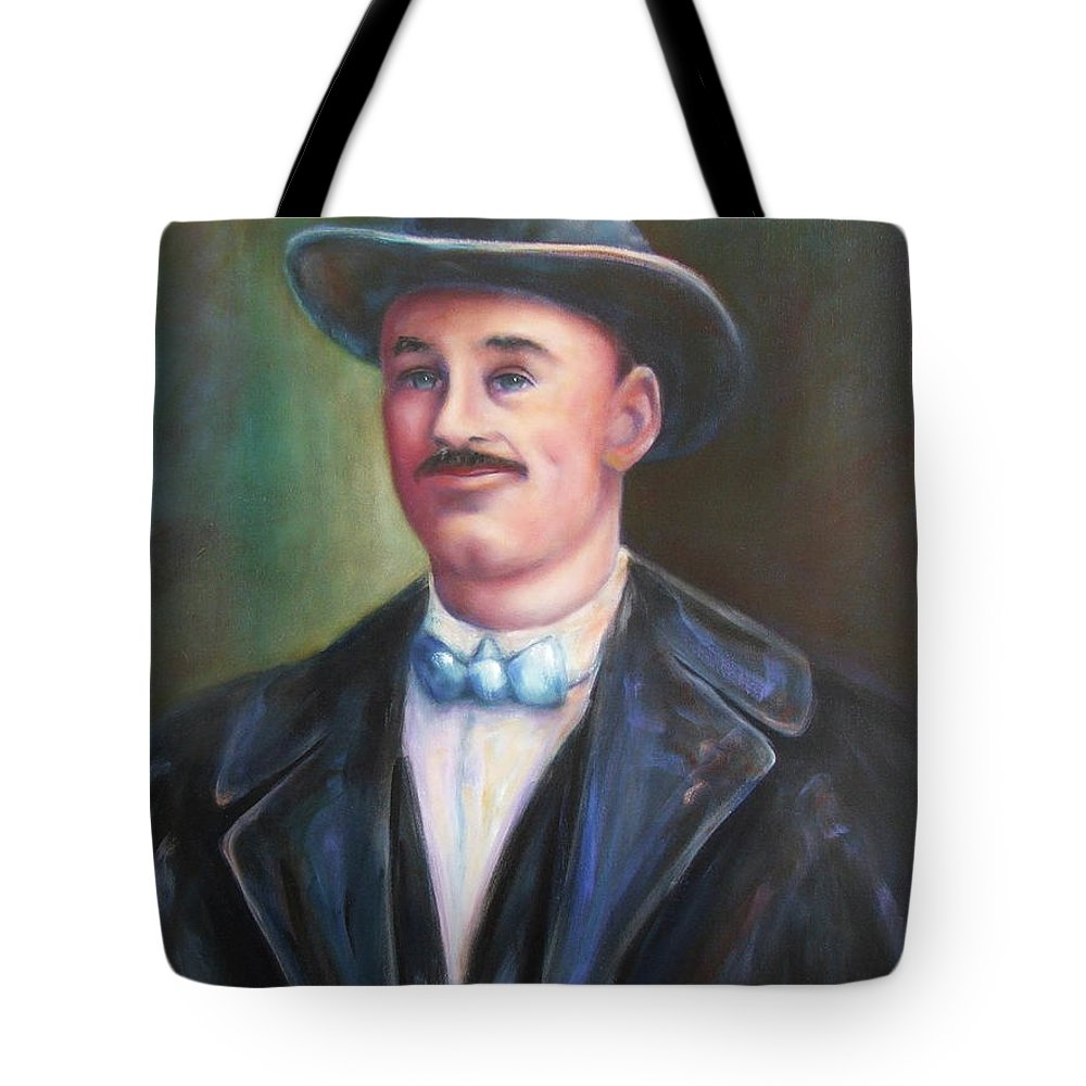 Portrait Tote Bag featuring the painting Leonard Mckay by Shannon Grissom