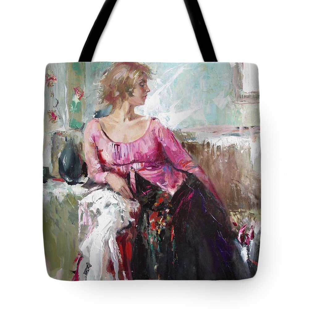 Ignatenko Tote Bag featuring the painting Lera by Sergey Ignatenko