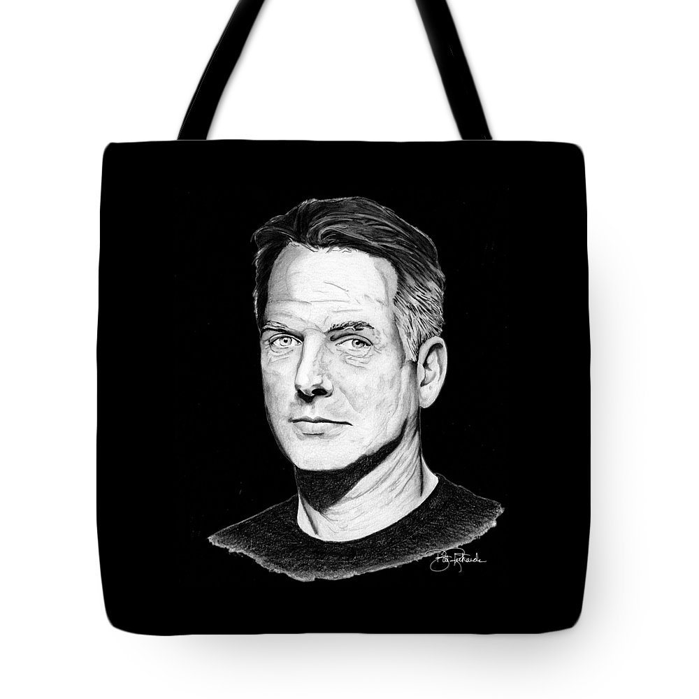Leroy Tote Bag featuring the drawing Leroy Gibbs by Bill Richards