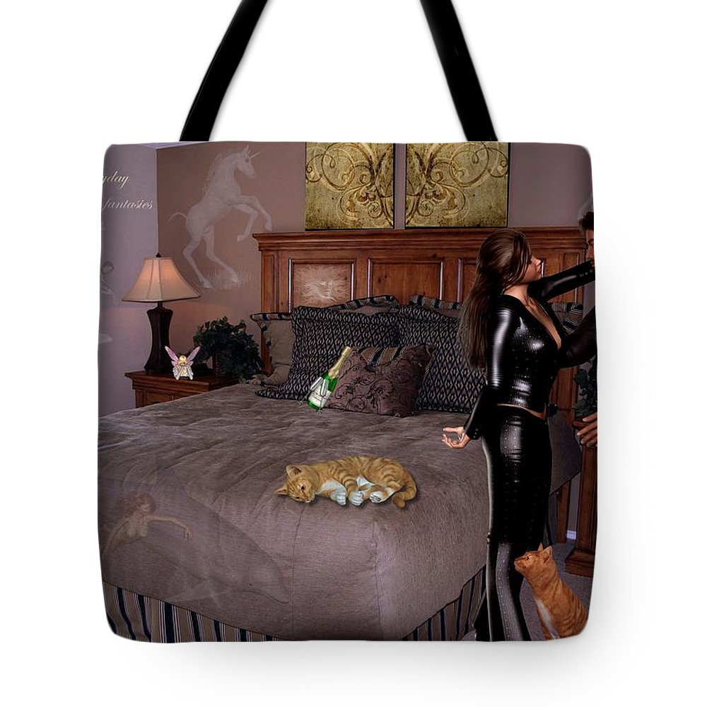 Composition Tote Bag featuring the photograph Let Everyday Bring Your Fantasies To Life by RiaL Treasures