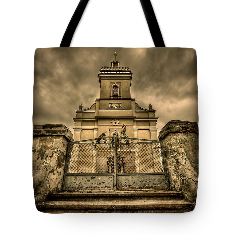 Church Tote Bag featuring the photograph Let Love In by Evelina Kremsdorf