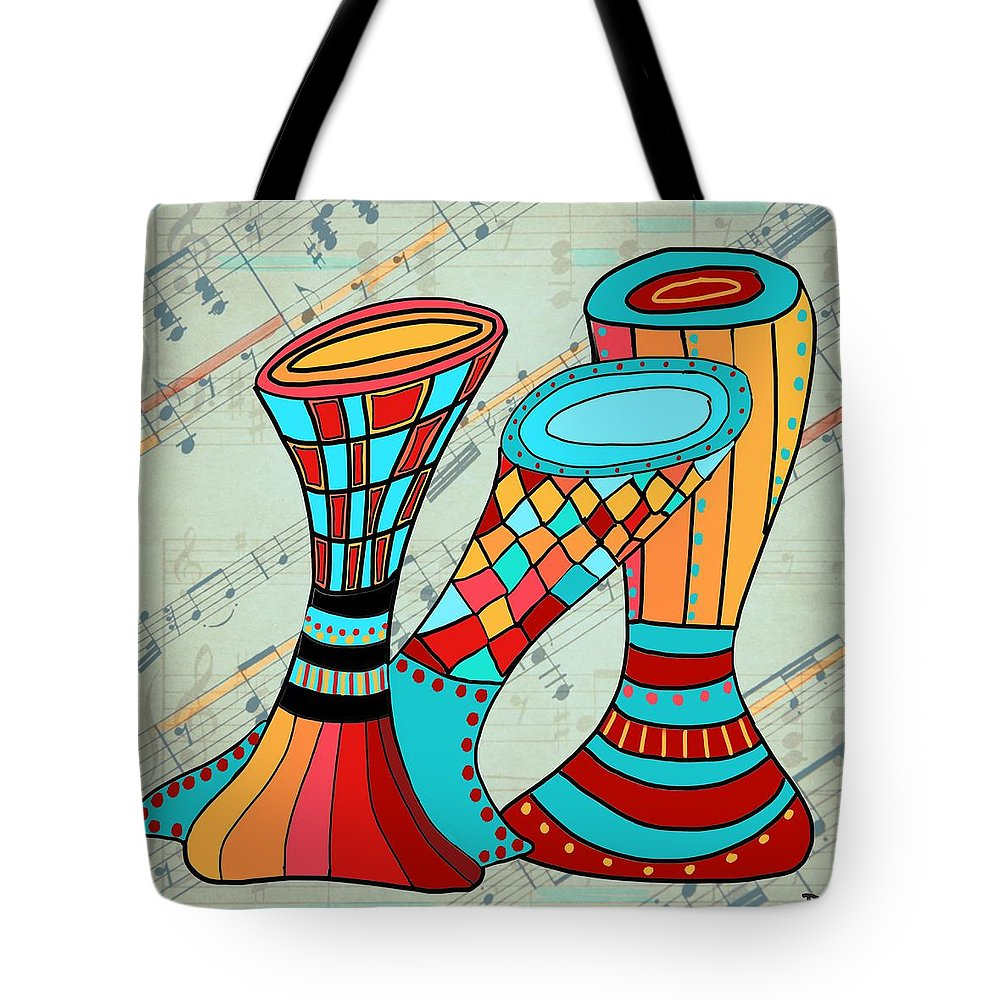 Digital Collage Tote Bag featuring the mixed media Let Me In by Dora Ficher