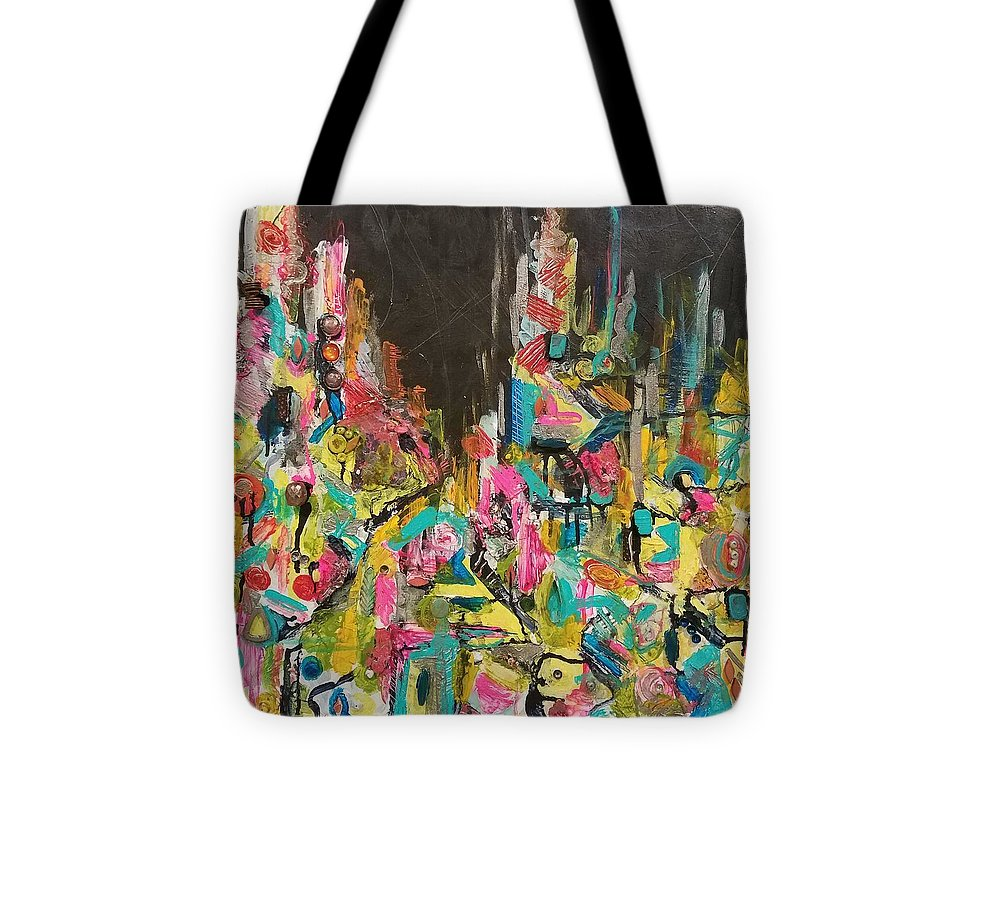 Tote Bag featuring the mixed media Let Me Stand Next To Your Fire by Euzhan Sims