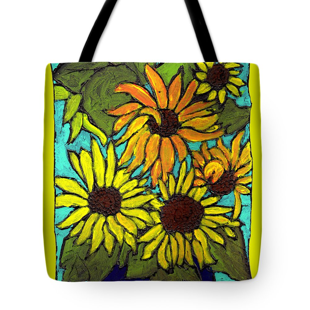 Yellow Tote Bag featuring the painting Let The Sunshine In by Wayne Potrafka