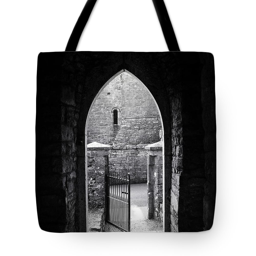 Irish Tote Bag featuring the photograph Let There Be Light Cong Church And Abbey Cong Ireland by Teresa Mucha