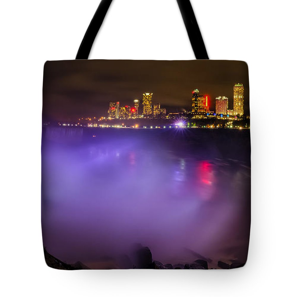 Niagara Falls Tote Bag featuring the photograph Let There Be Light by Mark Papke