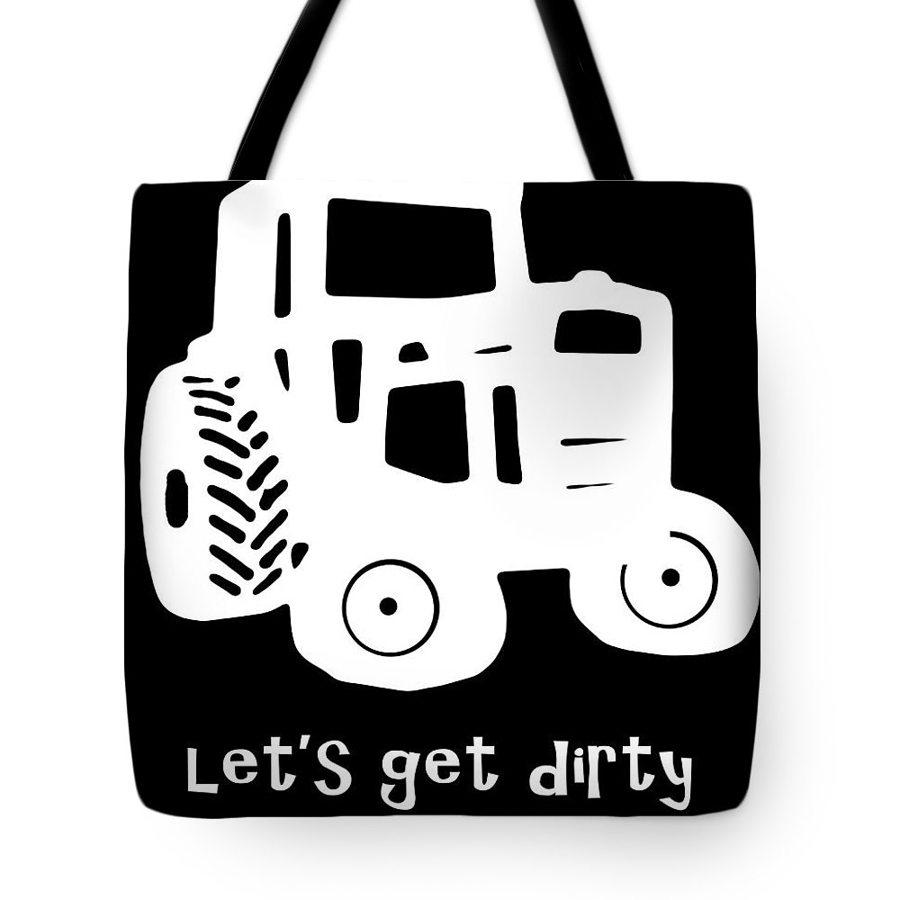 Tractor Tote Bag featuring the photograph Let's Get Dirty by Edward Fielding